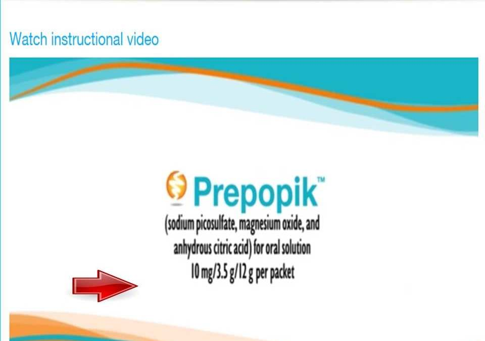 [Video] Prepopik for colonoscopy