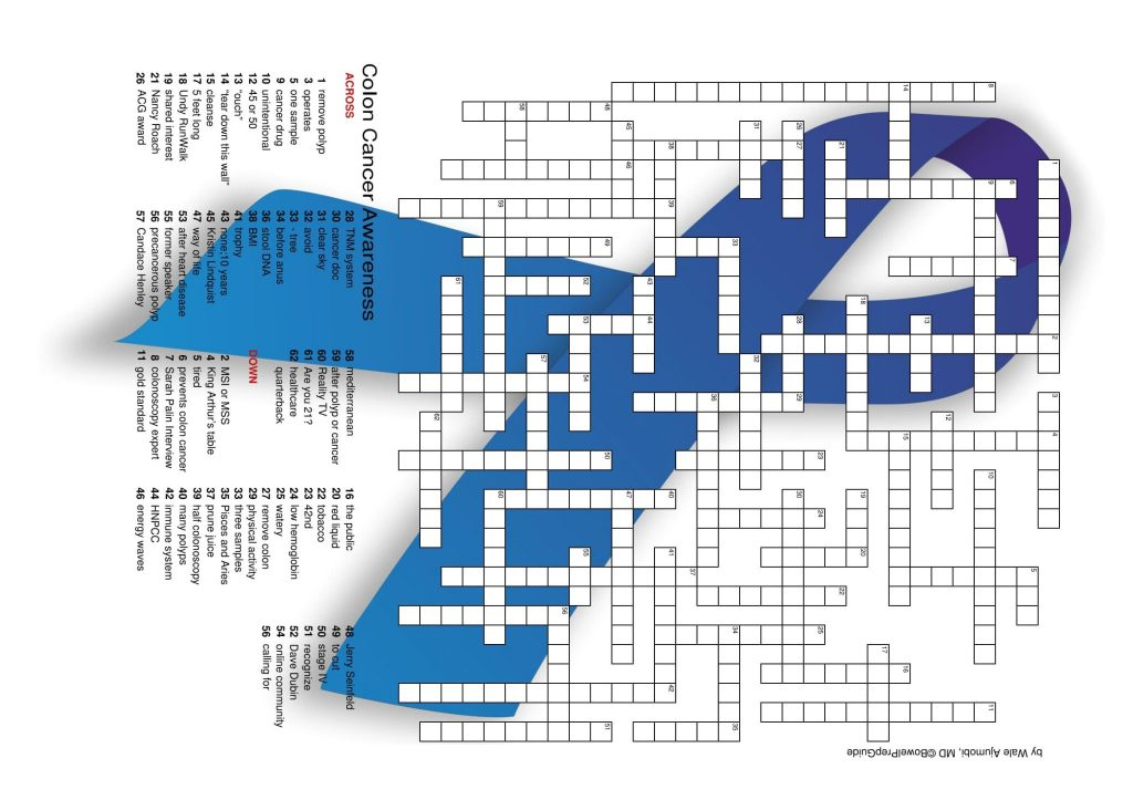 colon cancer awareness puzzle