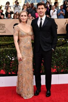 Mandatory Credit: Photo by Rob Latour/REX/Shutterstock (8137126cx) Emily Blunt and John Krasinski The 23rd Annual Screen Actors Guild Awards, Arrivals, Los Angeles, USA - 29 Jan 2017