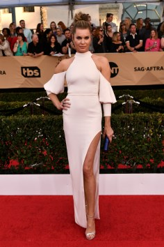 Mandatory Credit: Photo by Rob Latour/REX/Shutterstock (8137126fi) Rebecca Romijn The 23rd Annual Screen Actors Guild Awards, Arrivals, Los Angeles, USA - 29 Jan 2017