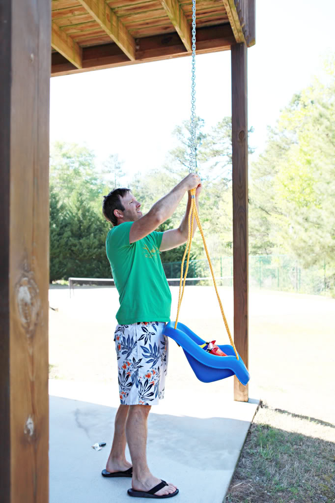 How To Hang A Baby Swing From A Tree : swing, Swingin', Bower, Power