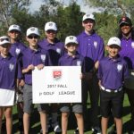 Junior Golf Academy 2017 purple league group photo