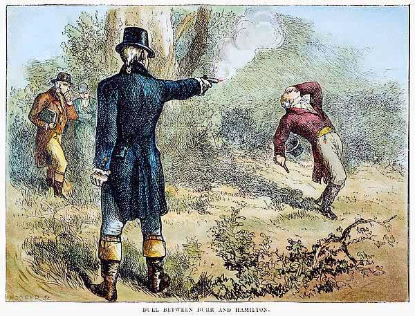 Image result for photo of burr hamilton duel