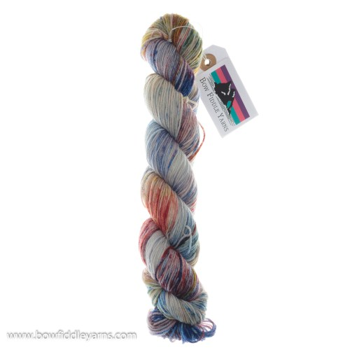Bow Fiddle Yarns Superwash Merino - Rainbow Sprinkles - 4ply yarn
