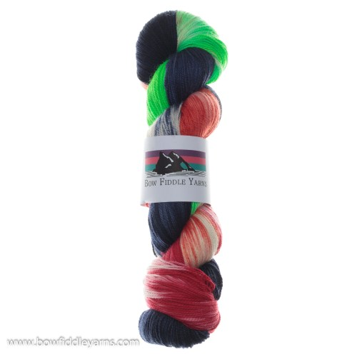 Bow Fiddle Yarns Merino and Nylon - Just a hot minute - 4ply yarn