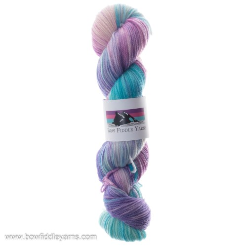 Pink and Blue hand dyed yarn Double Knit