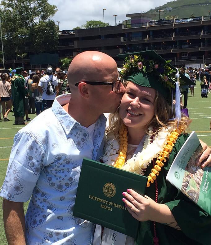 Melissa and Ben after graduation.