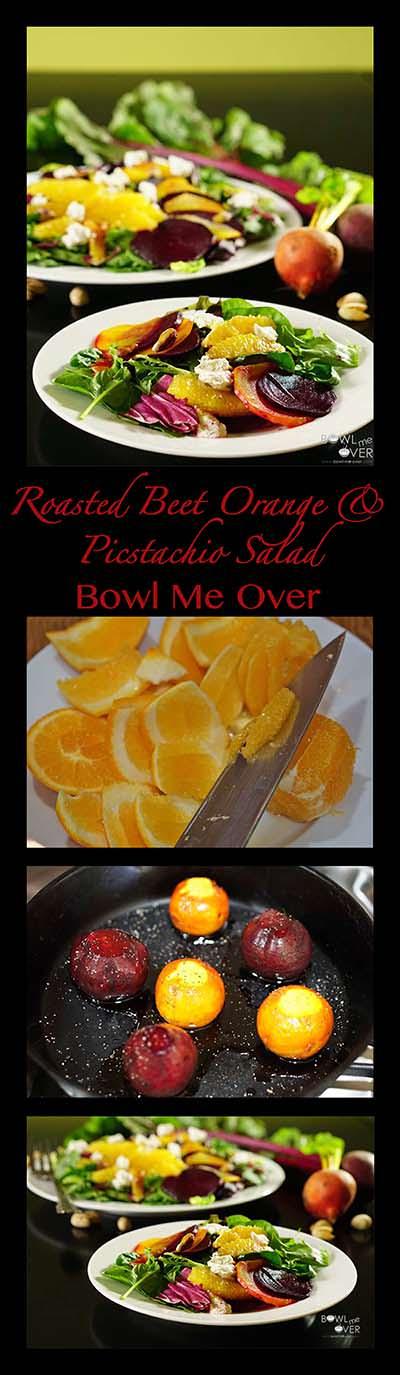 Roasted Beet Orange and Pistachio Salad - Bowl Me Over