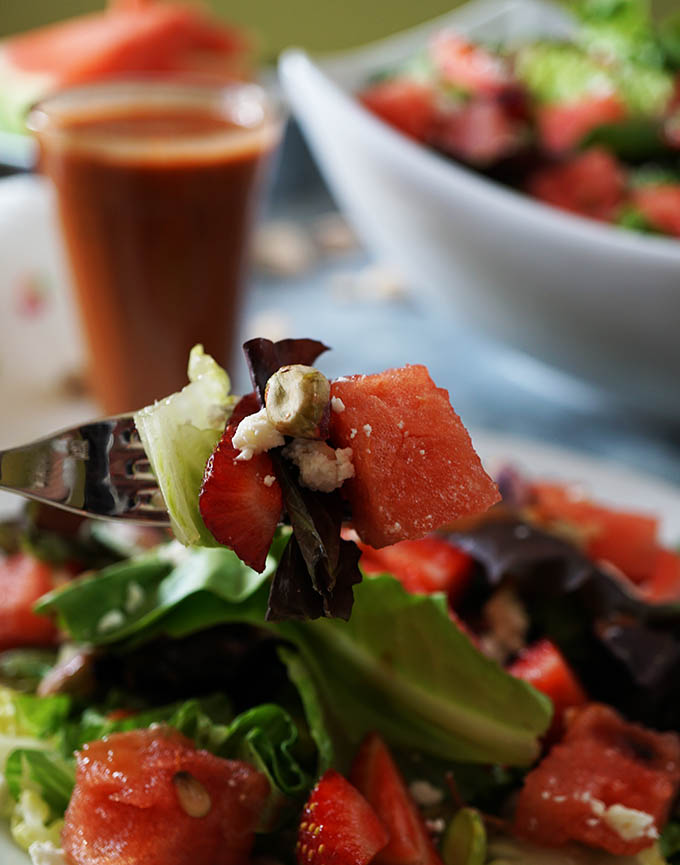 Super easy Strawberry Watermelon Salad