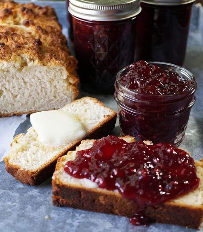 Bam Bam Pomegranate Jam is beautiful, festive and so delicious! #PomegranateJam #HomemadeJam