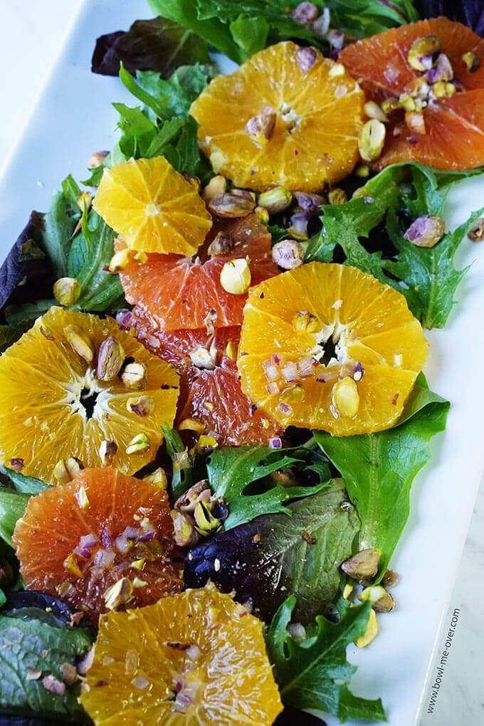Honey Glazed Orange Salad with Pistachios