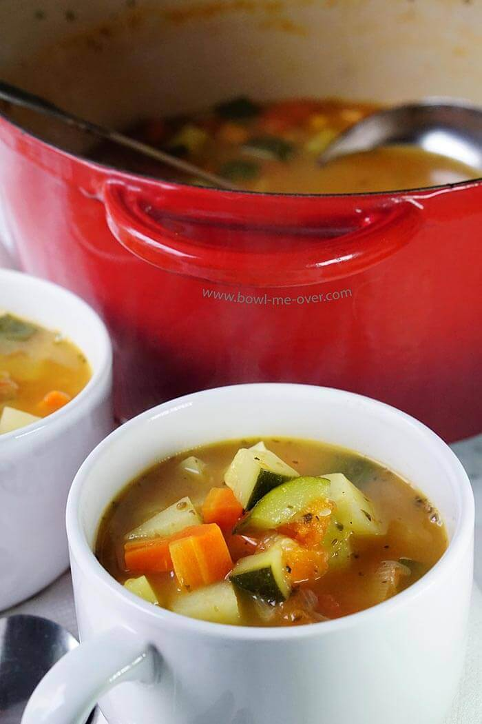 Make a big pot of this yummy tomato vegetable soup because everyone will want seconds!