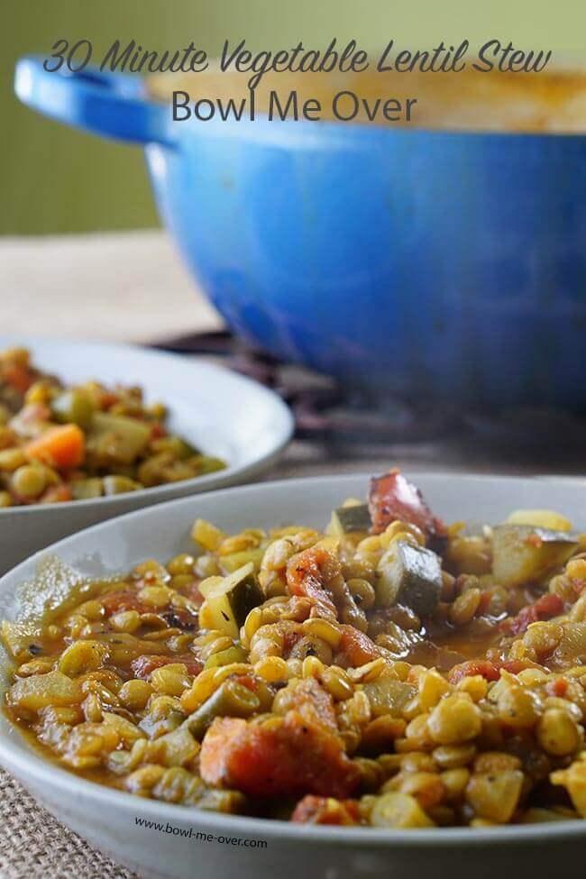 30 Minute Vegetable Lentil Soup
