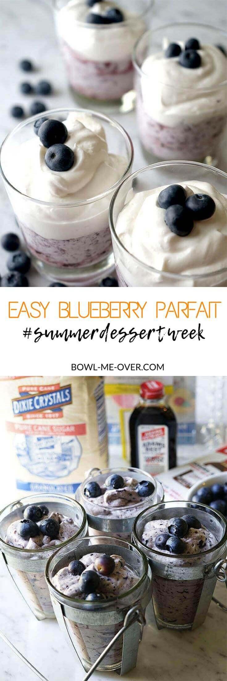 This Blueberry Parfait takes less than 10 minutes to make!