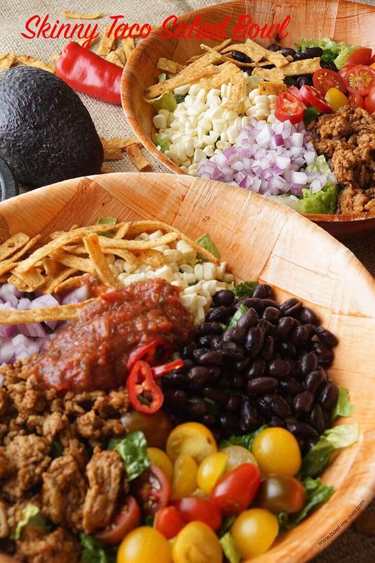 Skinny Taco Salad Bowl