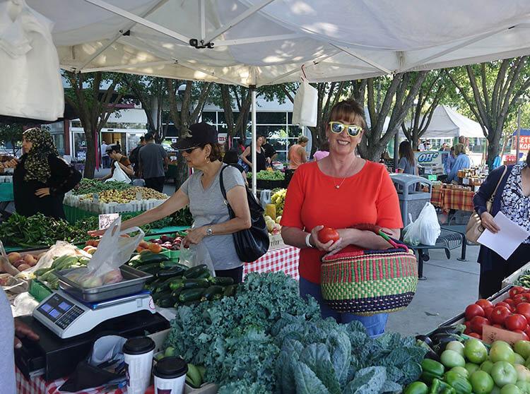 Deb at the Farmers Market