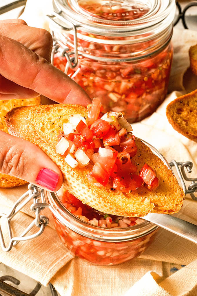 Tomato Relish Recipe on toast.