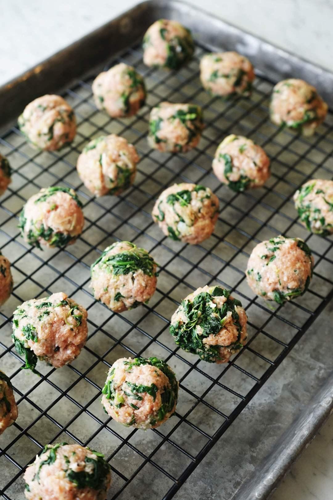 Shape into meatballs.
