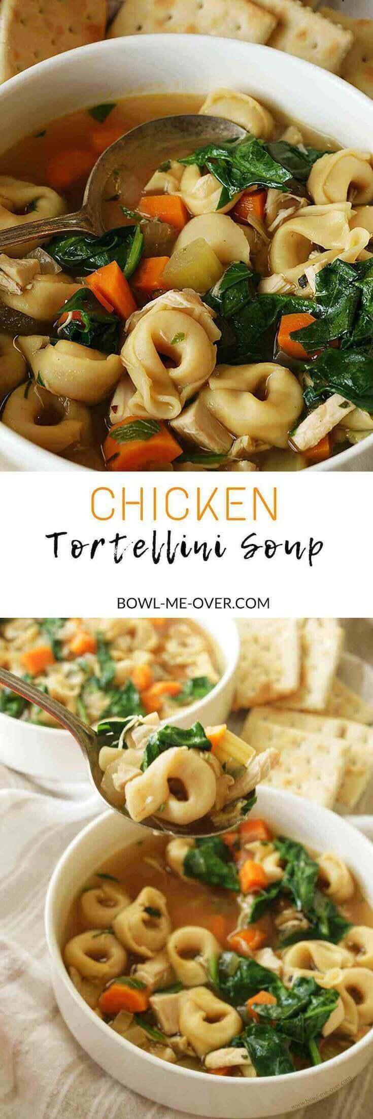 30 Minute Chicken Tortellini Soup