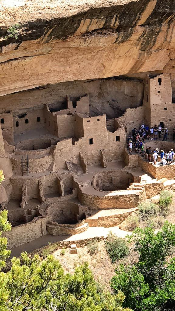 Ancient Pueblo Ruins in Mesa Verde National Park