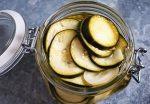 Easy Refrigerator Pickles in glass jar