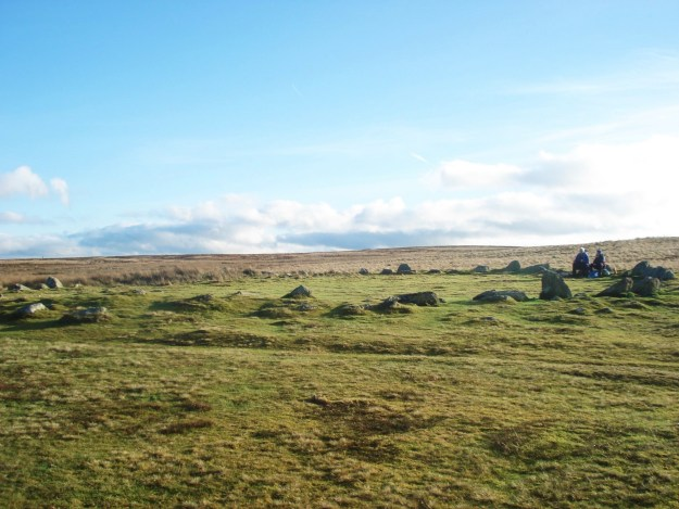 Moor Divock with a couple of Bronze Age picnickers.