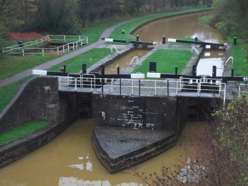 The larger Trent and Mersey Canal.