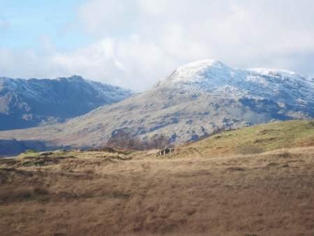 Dow Crag and Coniston Old Man.