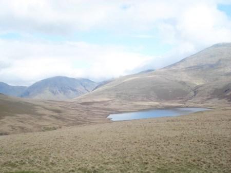 Scafell dominating Burnmoor Tarn