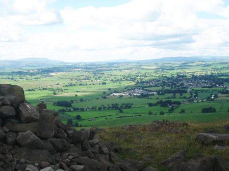 Pendle, Longridge Fell and Waddington Fell with Gargrave below.