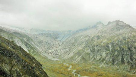 Distant glaciers.