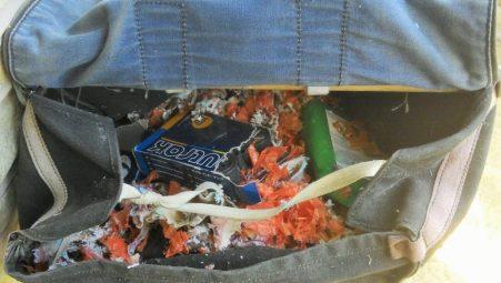 Nesting saddle bag.