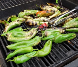 Montana Bowl of Cherries-anaheim peppers on the grill
