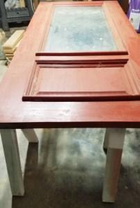 Montana Bowl of Cherries-solid oak door painted red