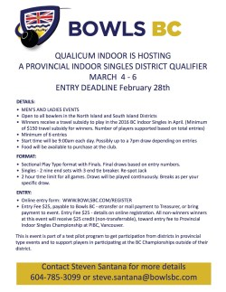Qualicum Indoor Singles Poster