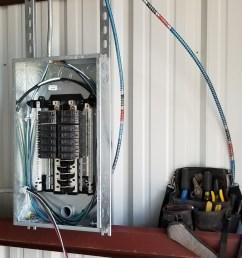 metal building workshop complete electrical wiring [ 1960 x 4032 Pixel ]