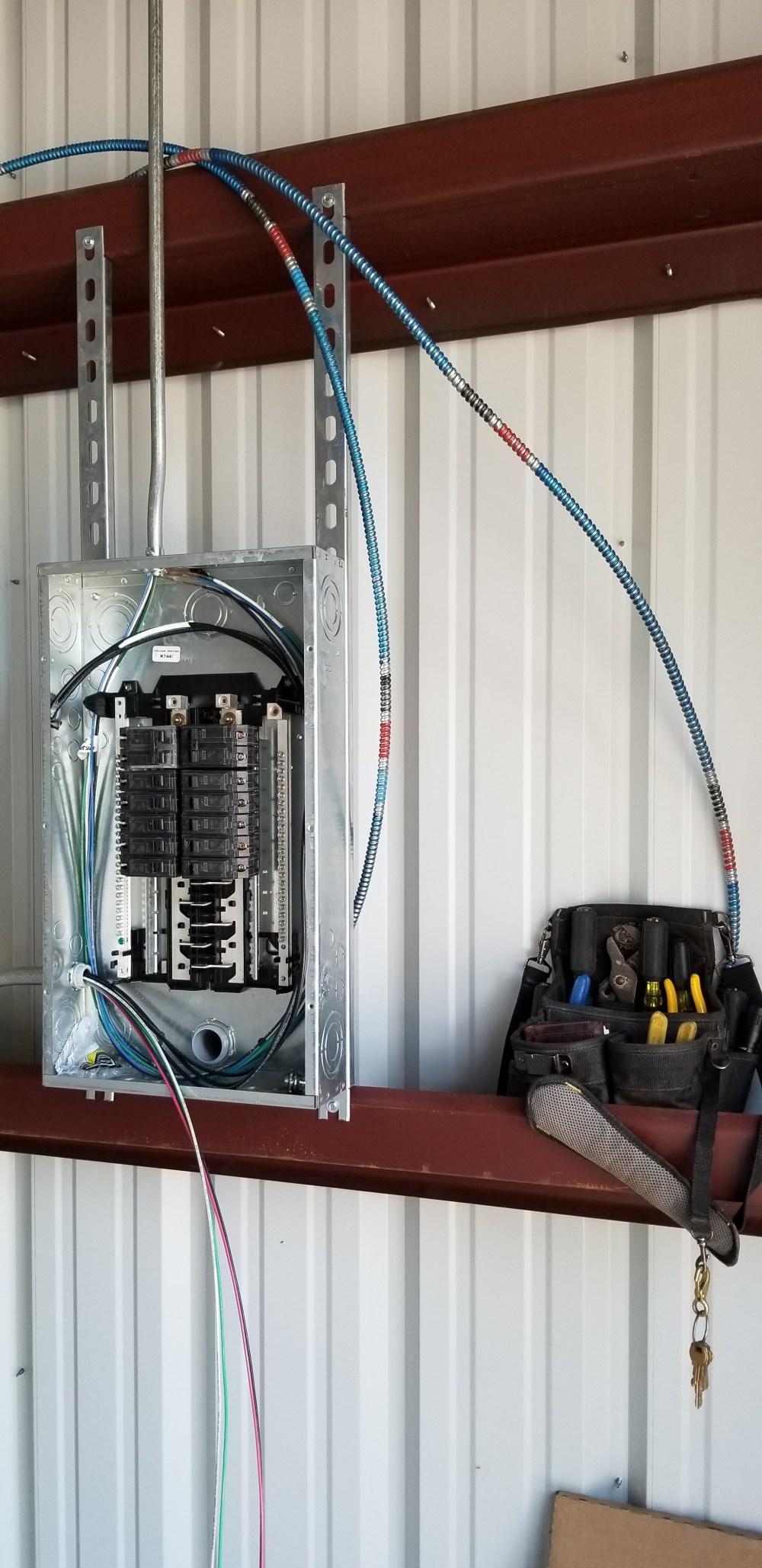 medium resolution of metal building workshop complete electrical wiring
