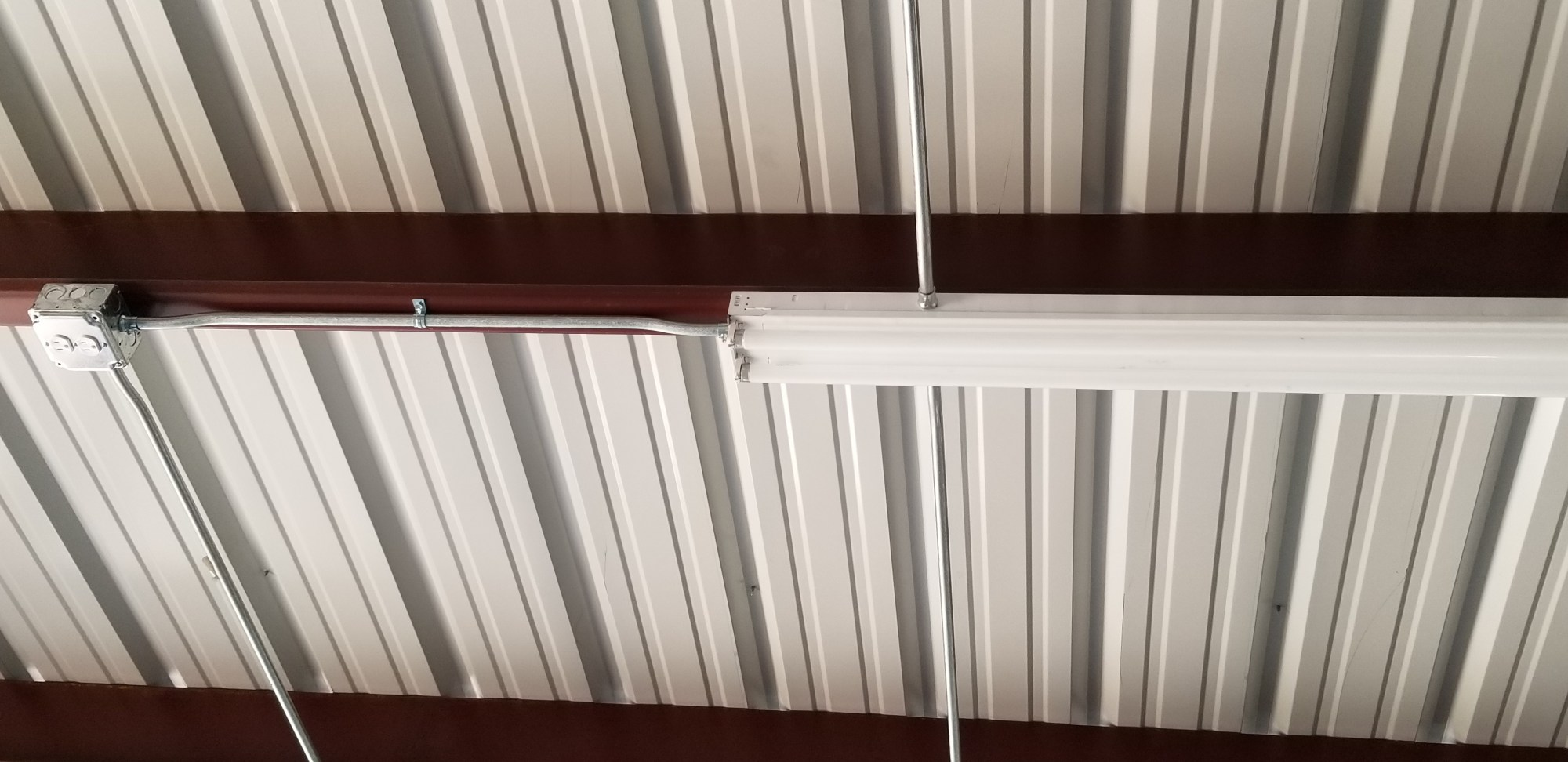 hight resolution of metal building workshop complete electrical wiring