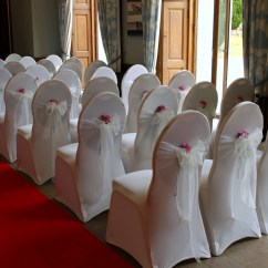 Ivory Chair Covers With Gold Sash Overstuffed Desk Cool Water Rose Bowsandblooms