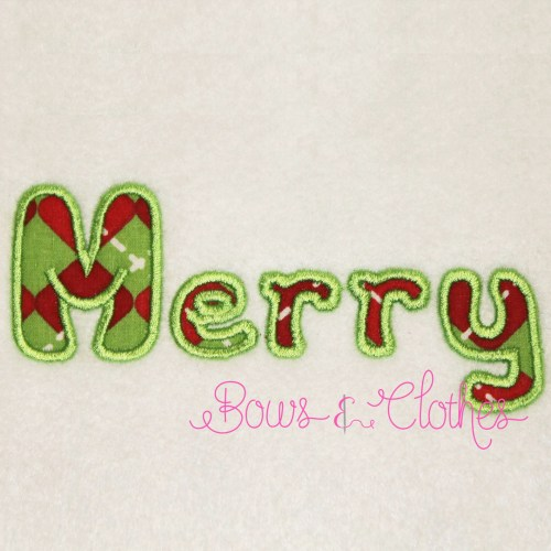 Applique Letters – Bows and Clothes