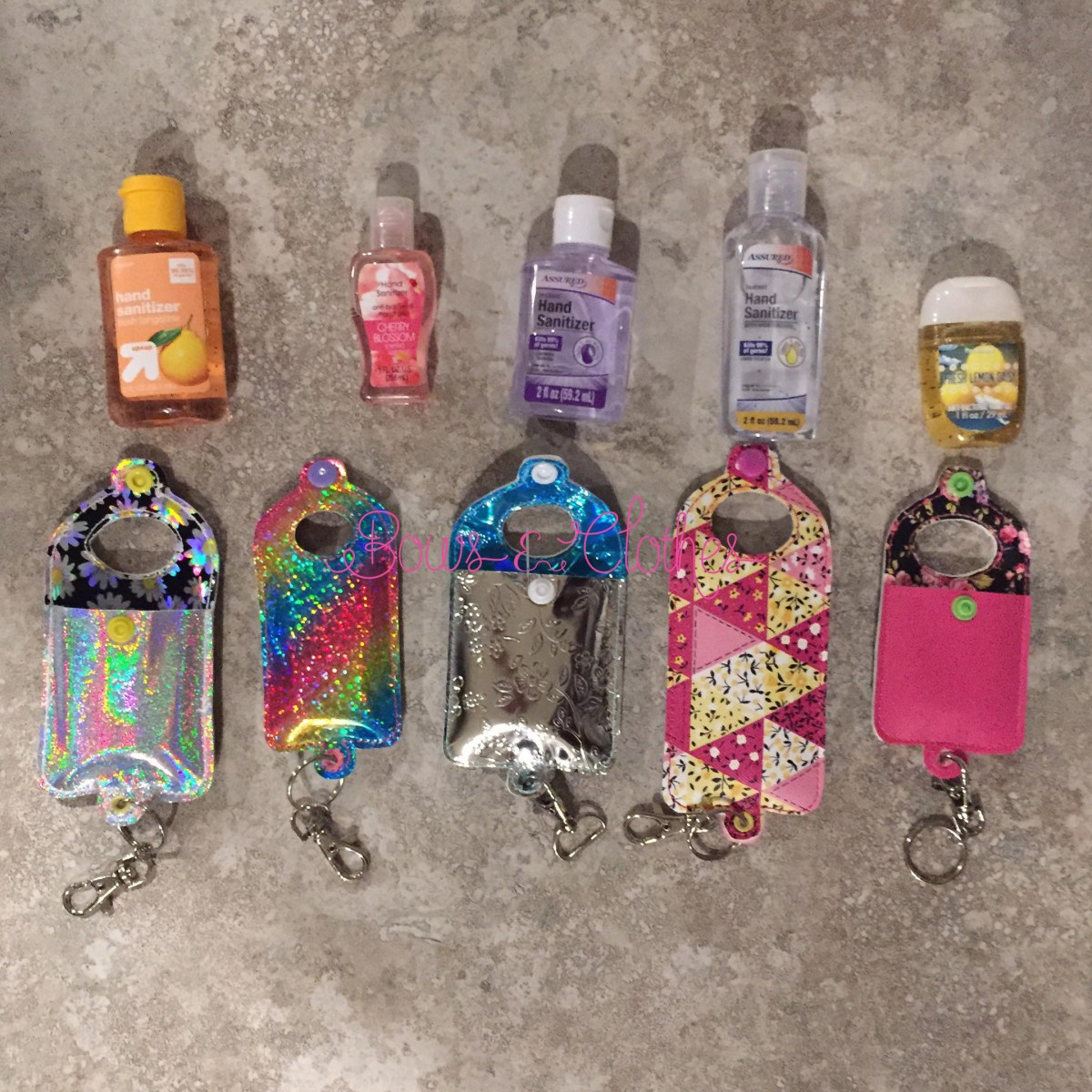 Open Tab Hand Sanitizer Case- Snap in back