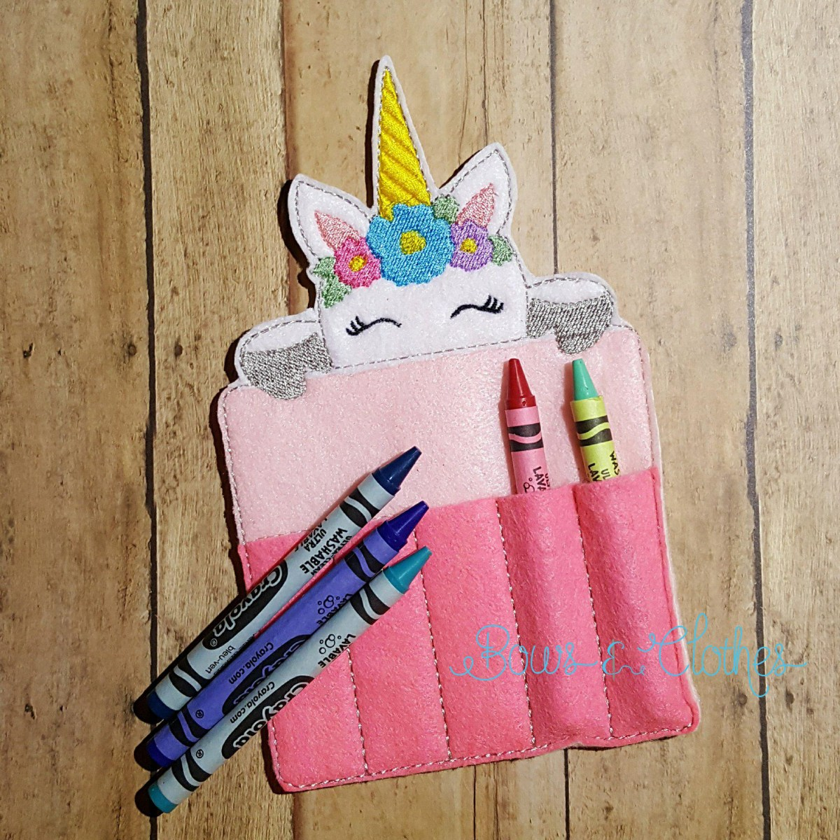 Unicorn Crayon Holder