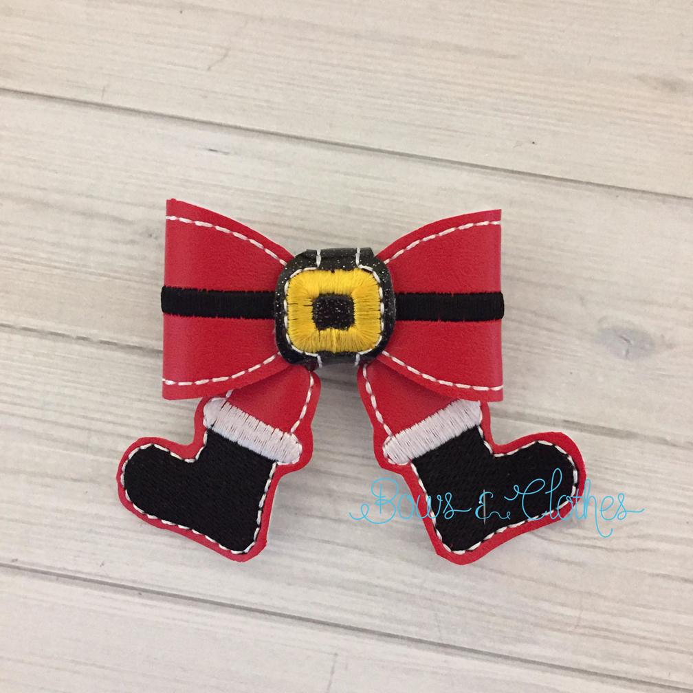 Santa Boots Bow