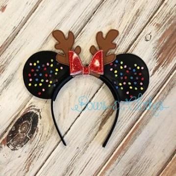 Christmas Light Antler Mouse Ears