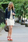 Lace Dress with Jean Jacket