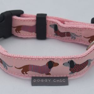 DCHIC-Pink Dachshund Dog Collar for your dog