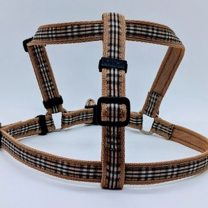 designer tartan dog harness