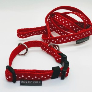 Red Polka Dots for Small Dogs and Puppies