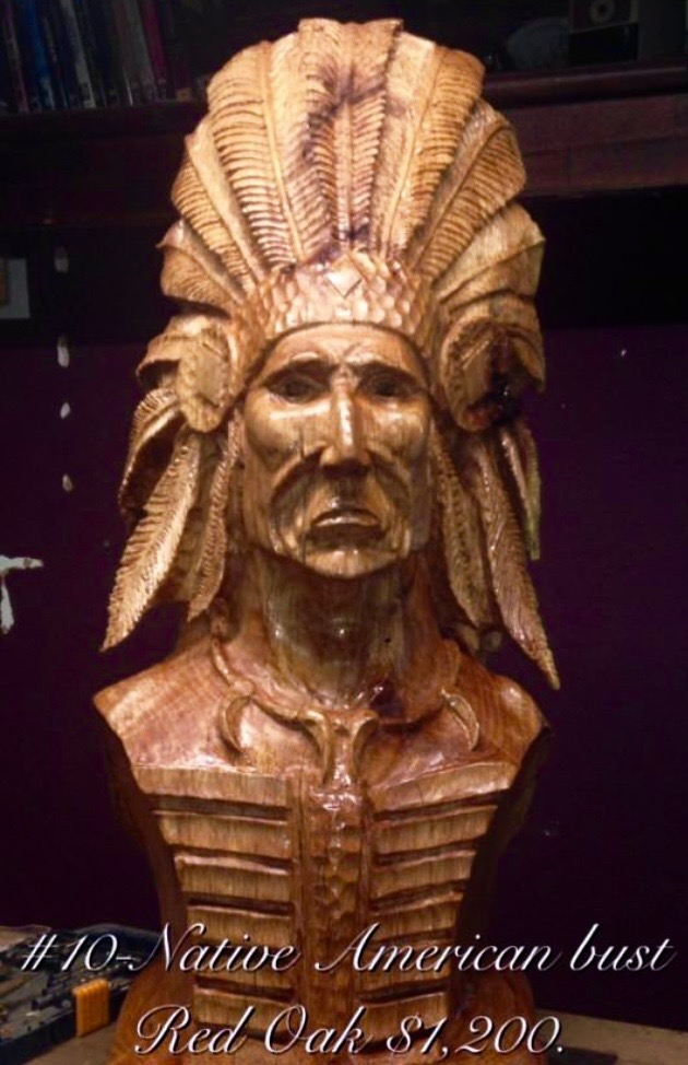Red Oak Native Bust by Stanton Pace