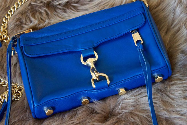 rebecca minkoff mini mac electric blue